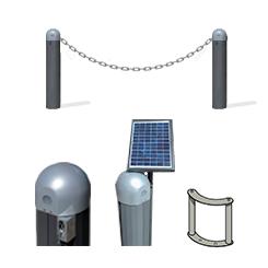 Dissuasore a catena e sbarra solare