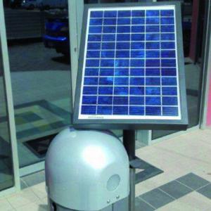barriera automatica a catena pannelli solari